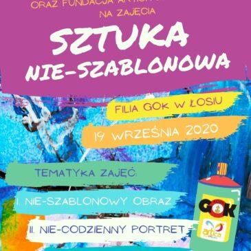 Sztuka nie-szablonowa – zapraszamy na warsztaty w Łosiu- 19.09.2020