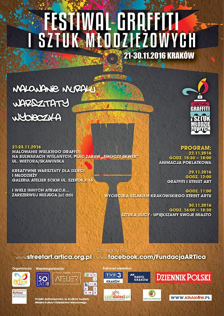 plakat festiwal graffiti 2016 KRK listopad